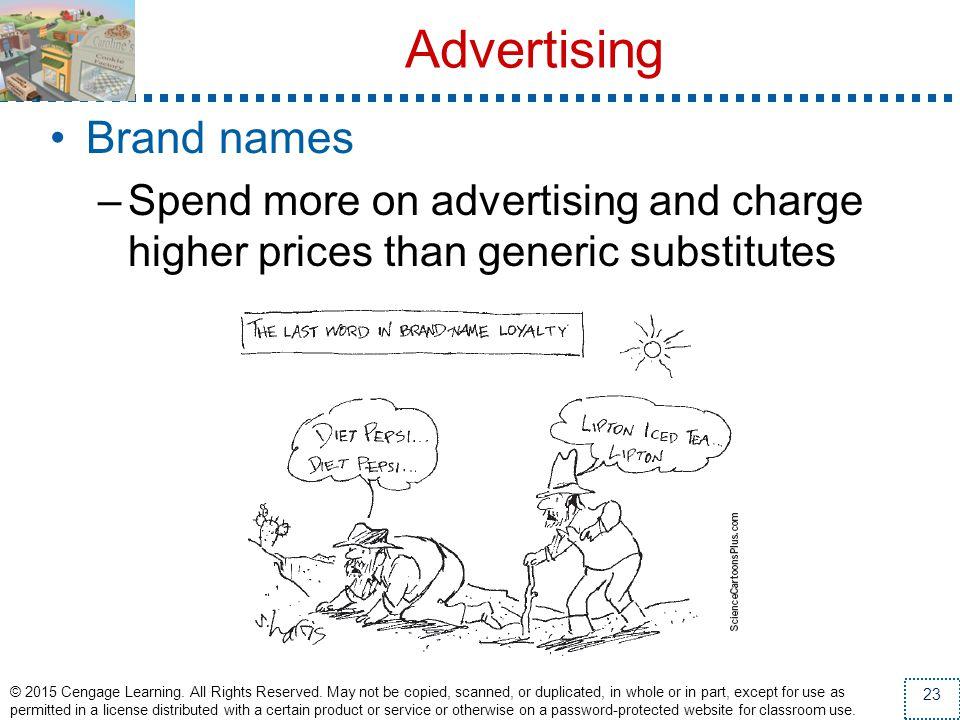 Advertising Brand names