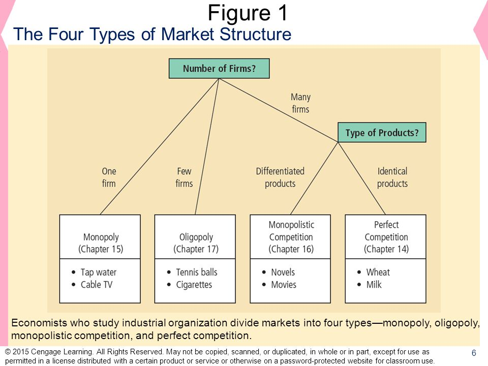 Figure 1 The Four Types of Market Structure