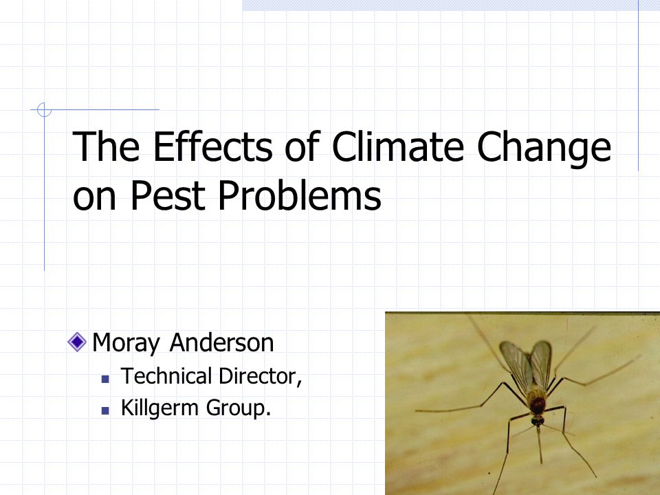 The Effects of Climate Change on Pest Problems