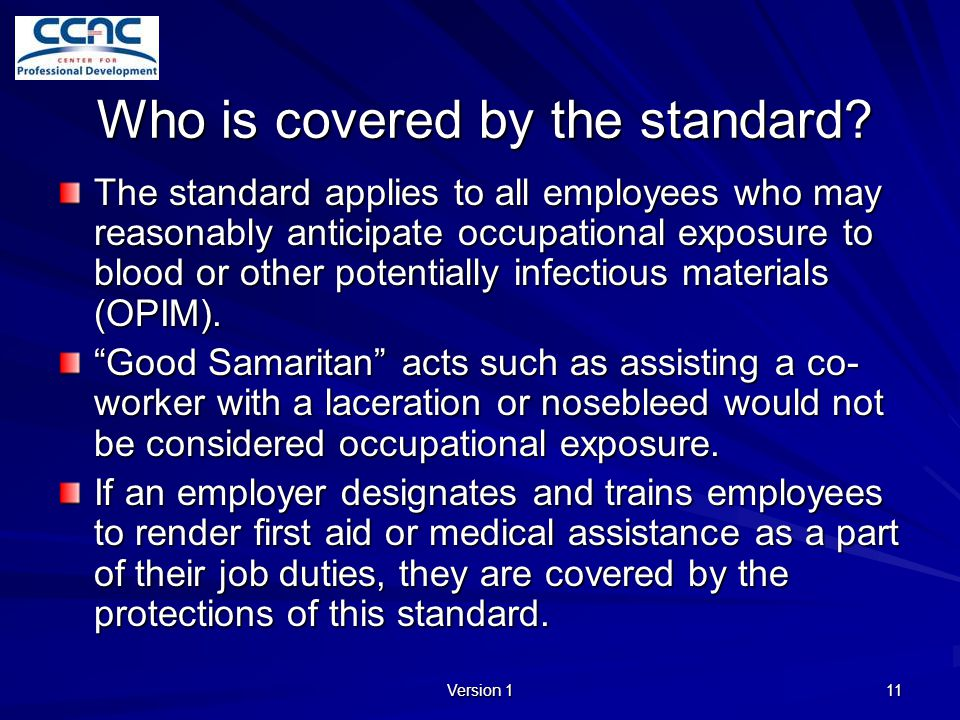 Who is covered by the standard
