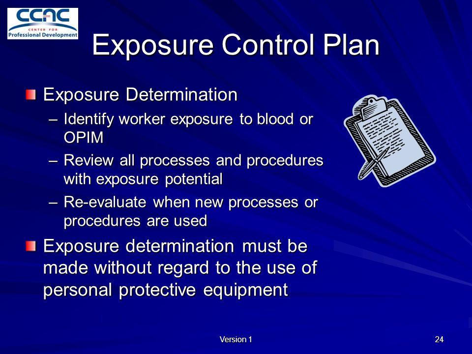 Exposure Control Plan Exposure Determination