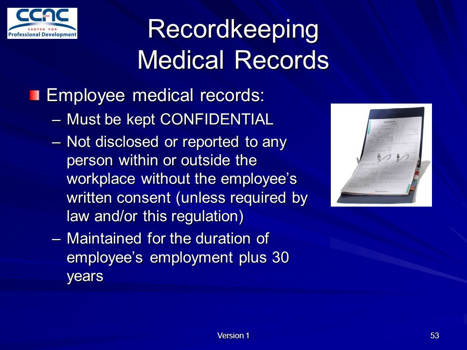 Recordkeeping Medical Records