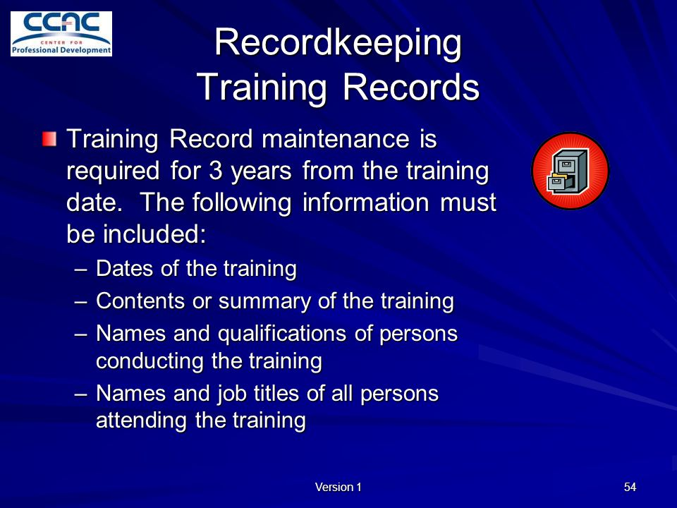 Recordkeeping Training Records