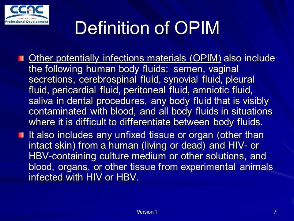 Definition of OPIM