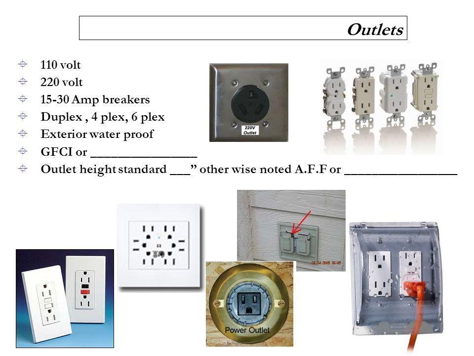 Outlets Volt Volt Amp Breakers Duplex C Plex C Plex on 4 Way Switch With Multiple Lights
