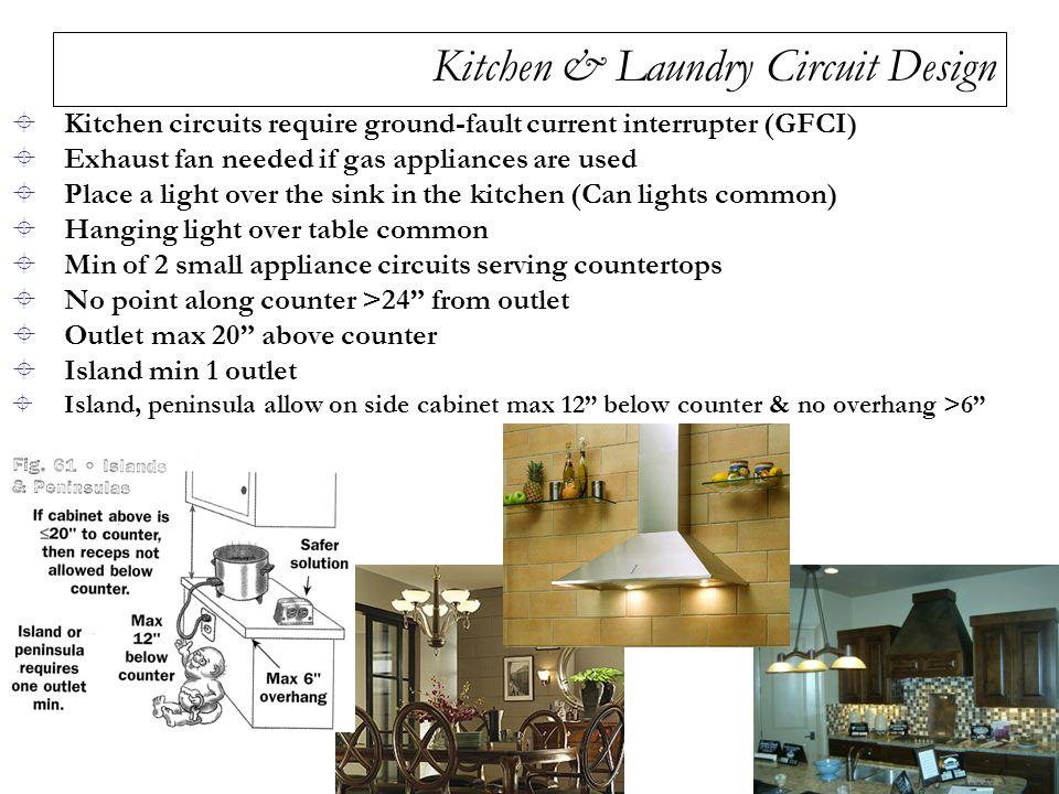 Kitchen Laundry Circuit Design