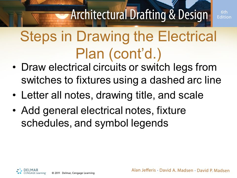 Steps in Drawing the Electrical Plan (cont'd.)