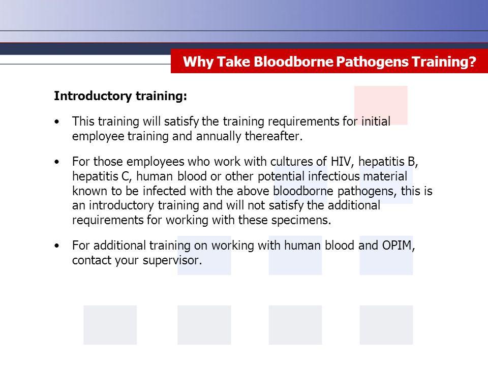 Why Take Bloodborne Pathogens Training