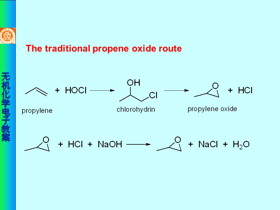 The traditional propene oxide route