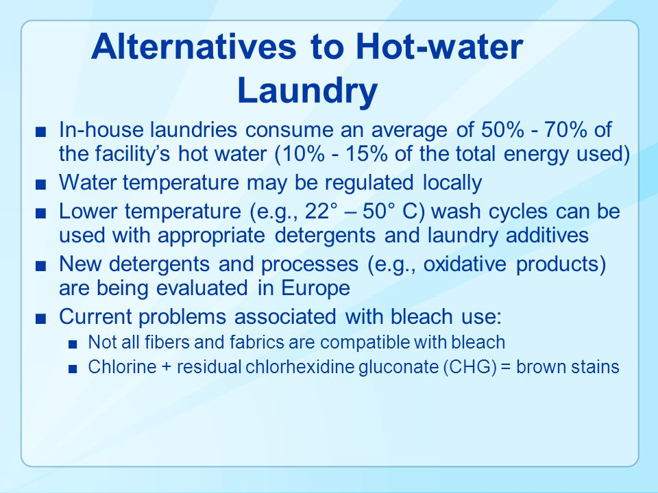Alternatives to Hot-water Laundry