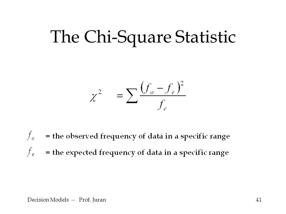 The Chi-Square Statistic