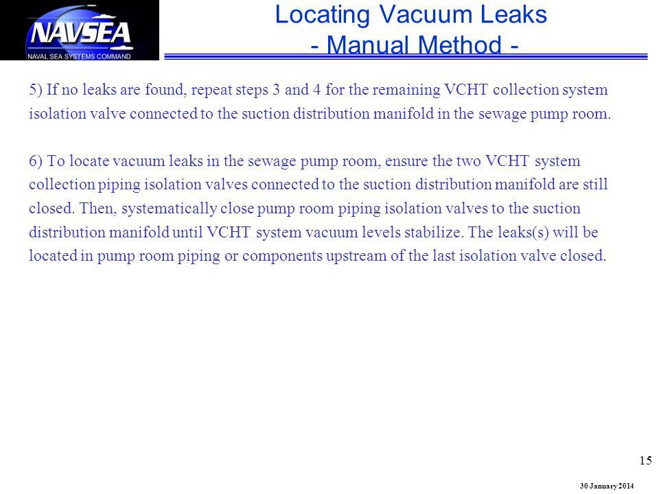 Locating Vacuum Leaks - Manual Method -