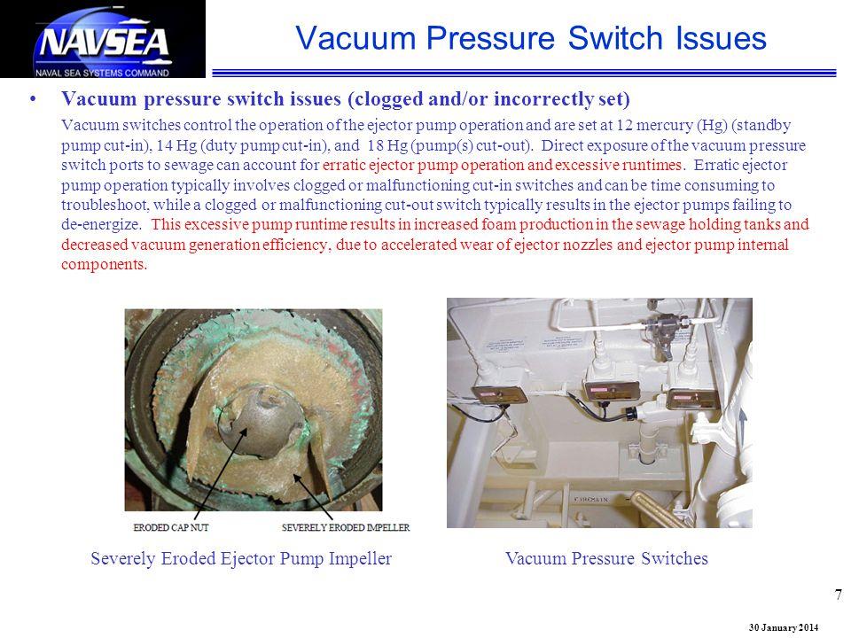 Vacuum Pressure Switch Issues