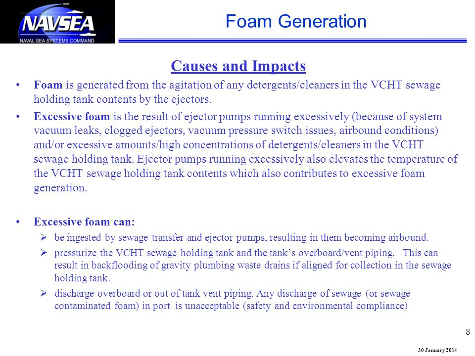Foam Generation Causes and Impacts