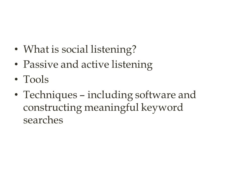 What is social listening
