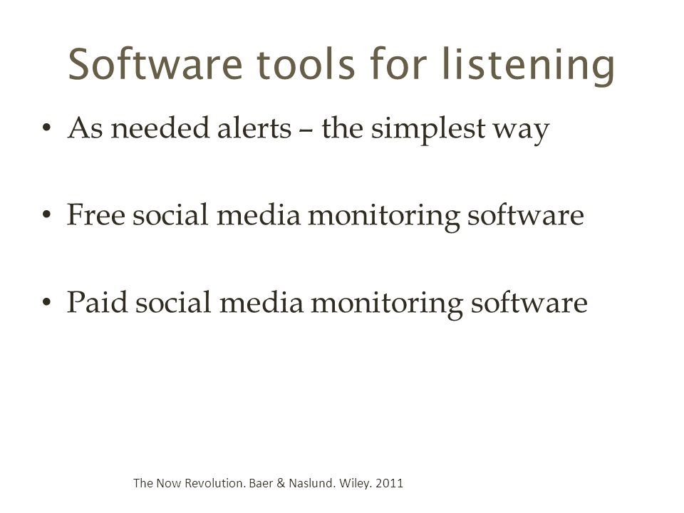 Software tools for listening