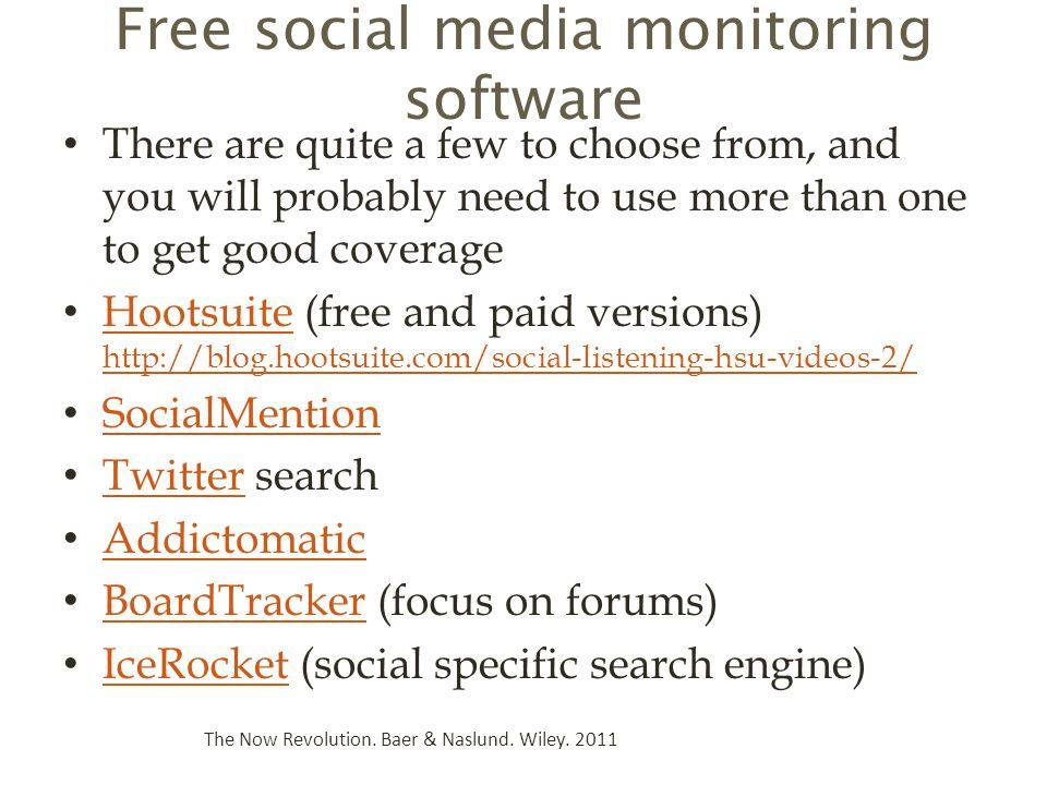 Free social media monitoring software
