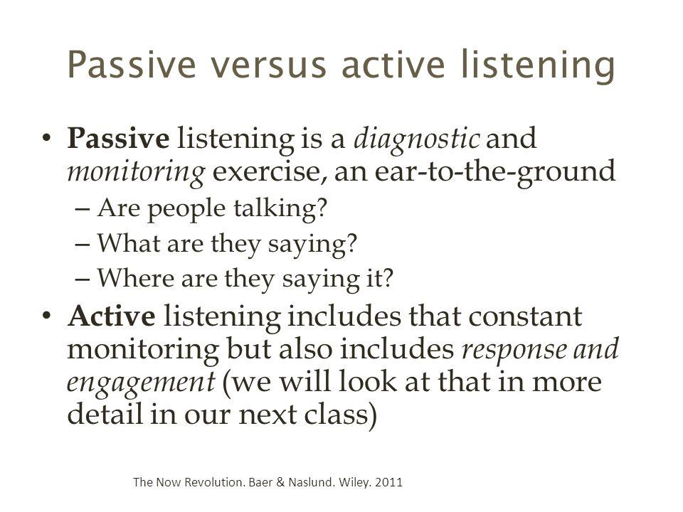 Passive versus active listening
