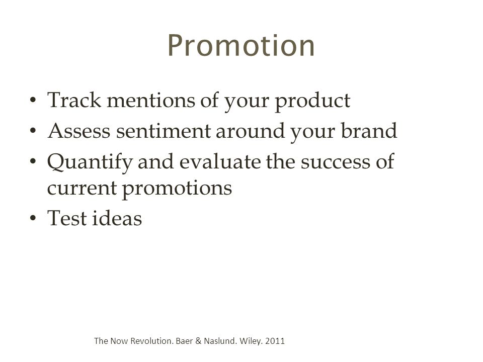 Promotion Track mentions of your product
