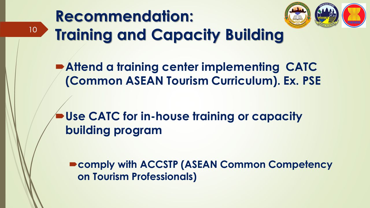 Recommendation: Training and Capacity Building