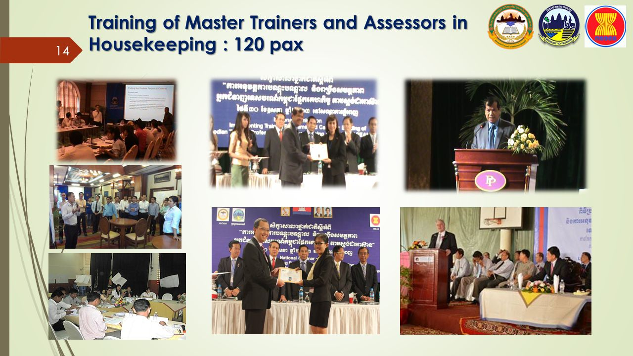 Training of Master Trainers and Assessors in Housekeeping : 120 pax