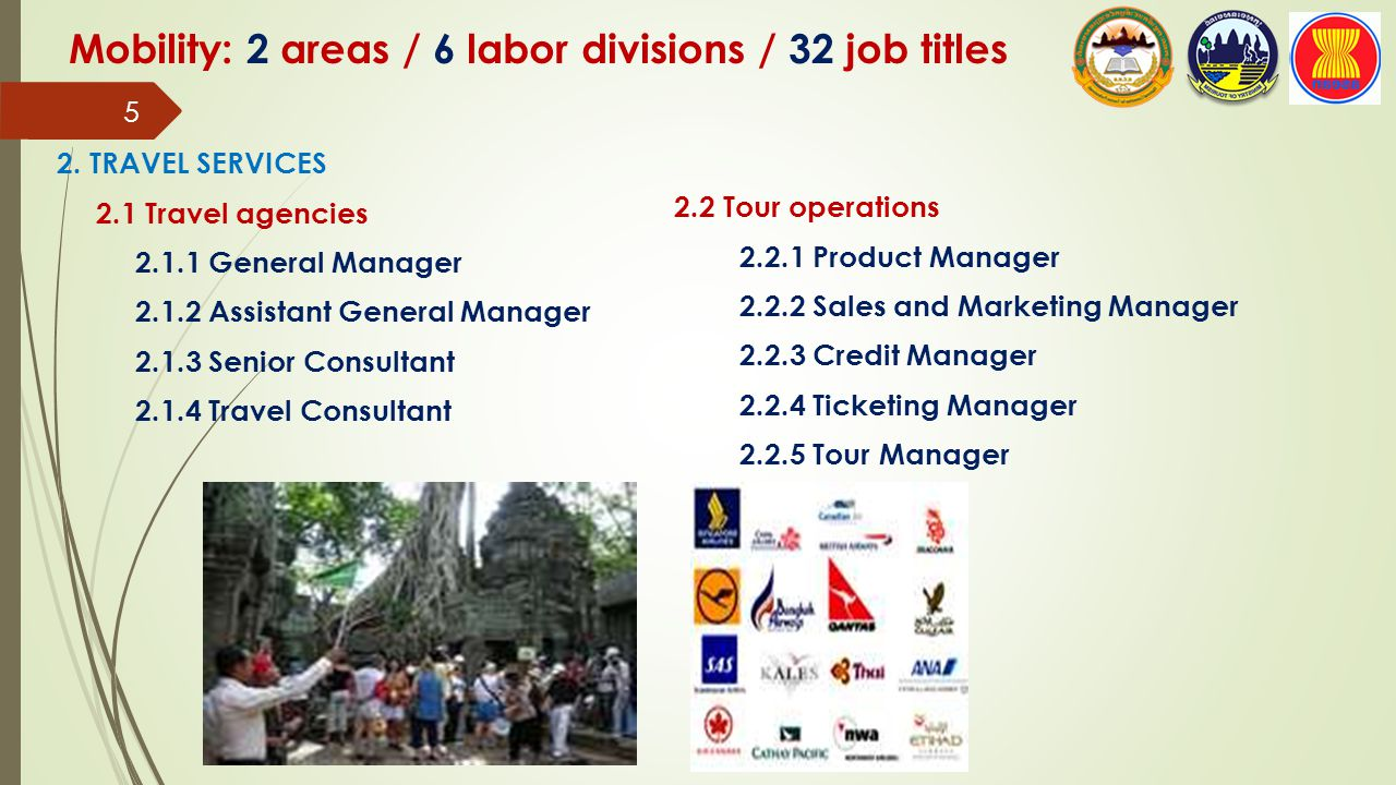 Mobility: 2 areas / 6 labor divisions / 32 job titles