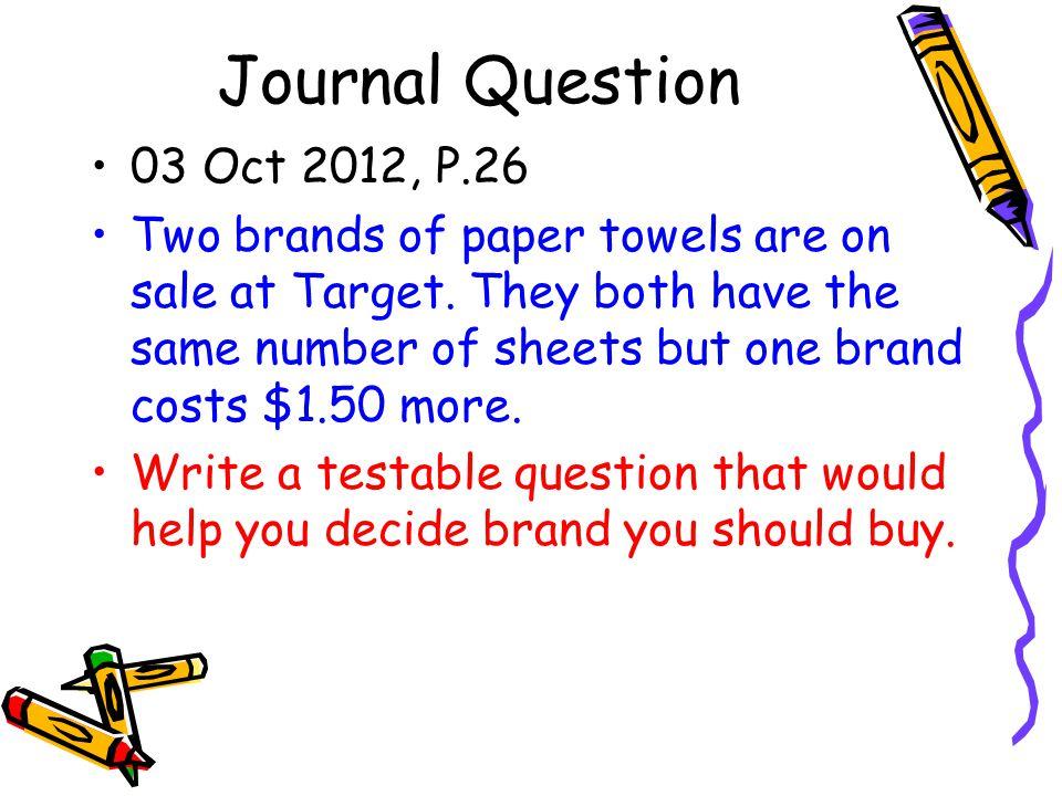 Journal Question 03 Oct 2012, P.26.