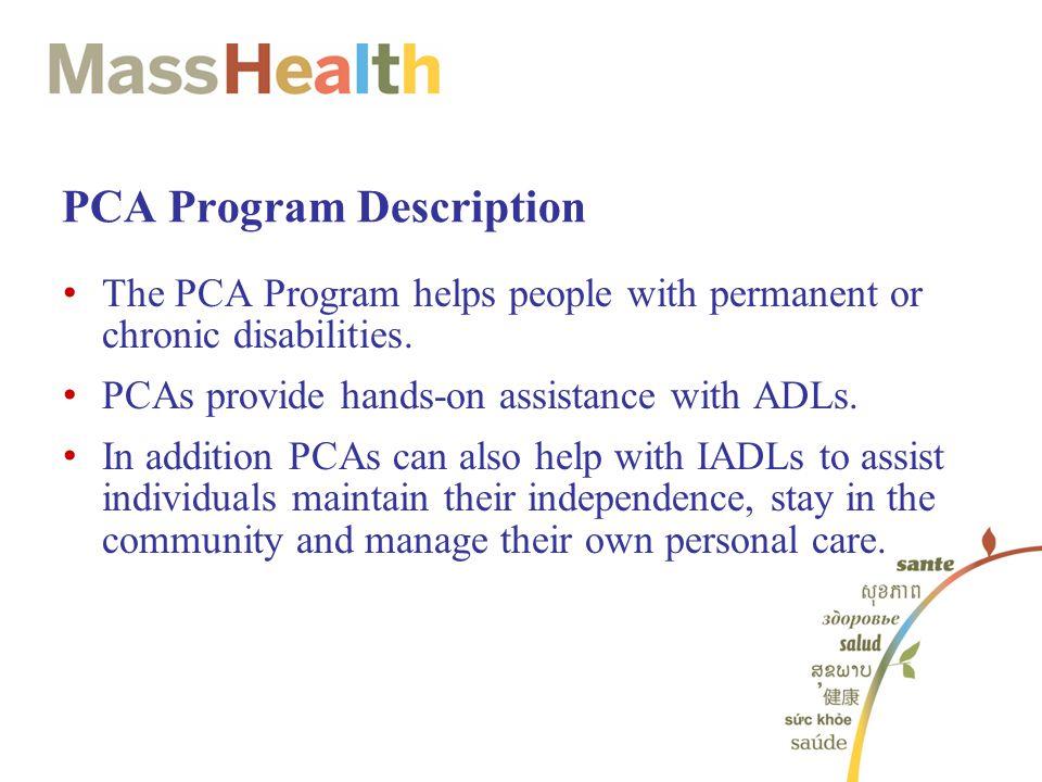 PCA Program Description