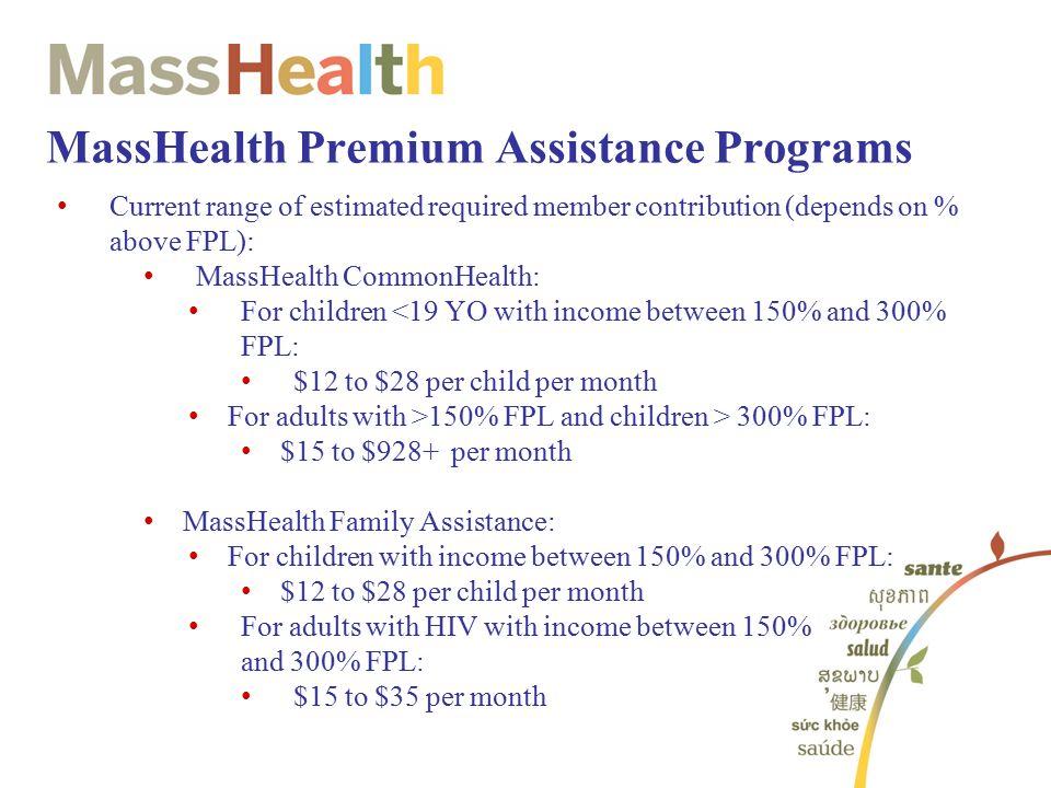 MassHealth Premium Assistance Programs