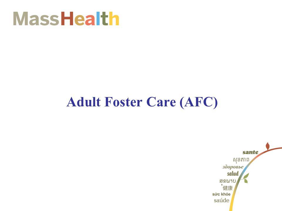 Adult Foster Care (AFC)