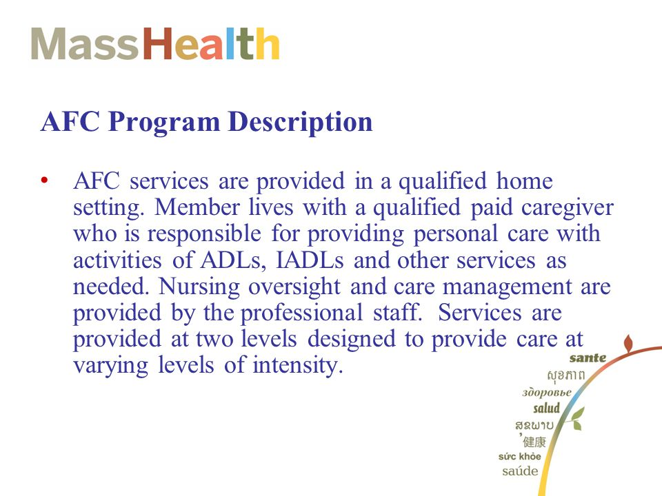 AFC Program Description