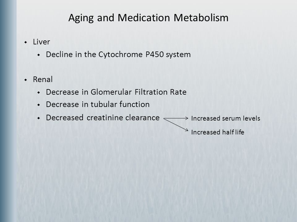 Aging and Medication Metabolism