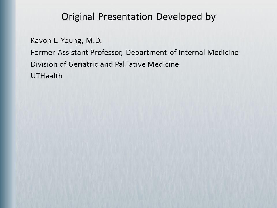 Original Presentation Developed by