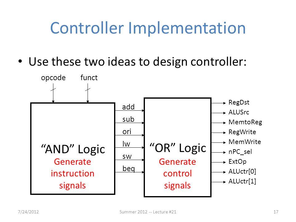 Controller Implementation