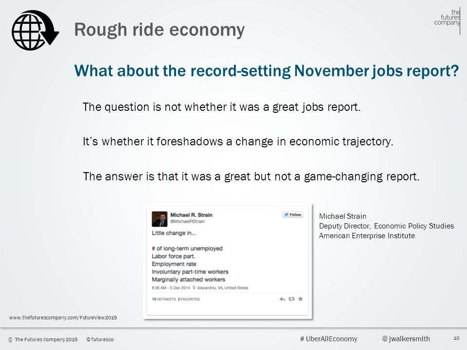 Rough ride economy What about the record-setting November jobs report