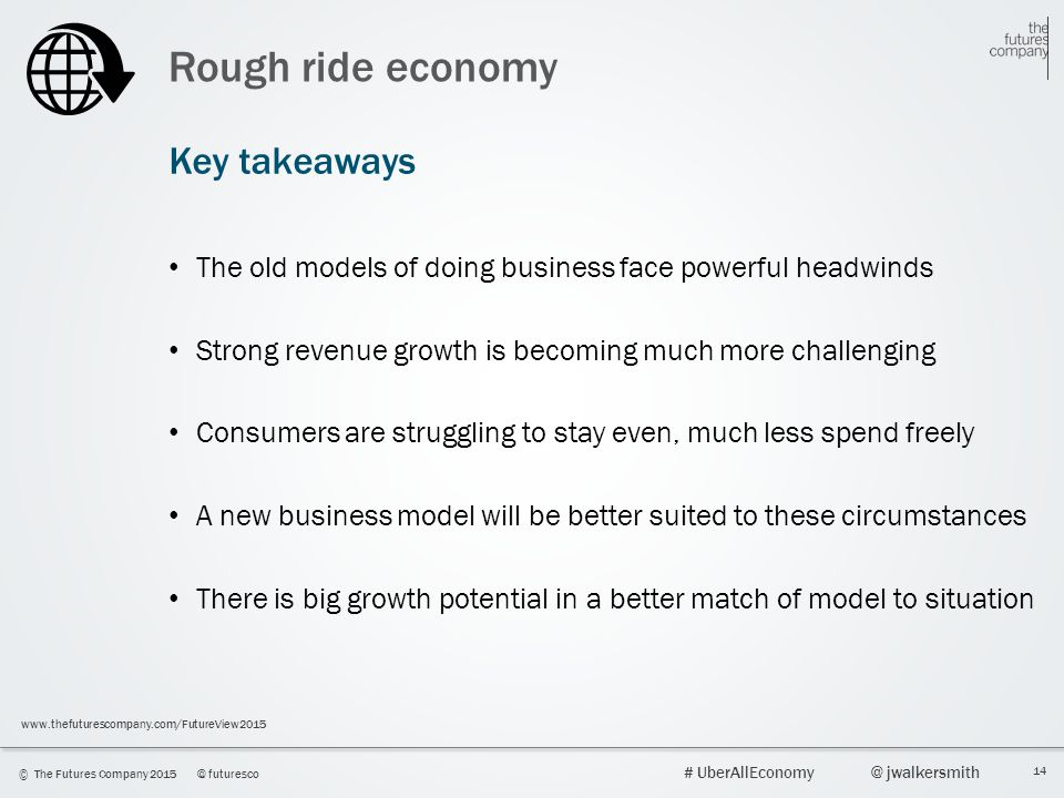 Rough ride economy Key takeaways