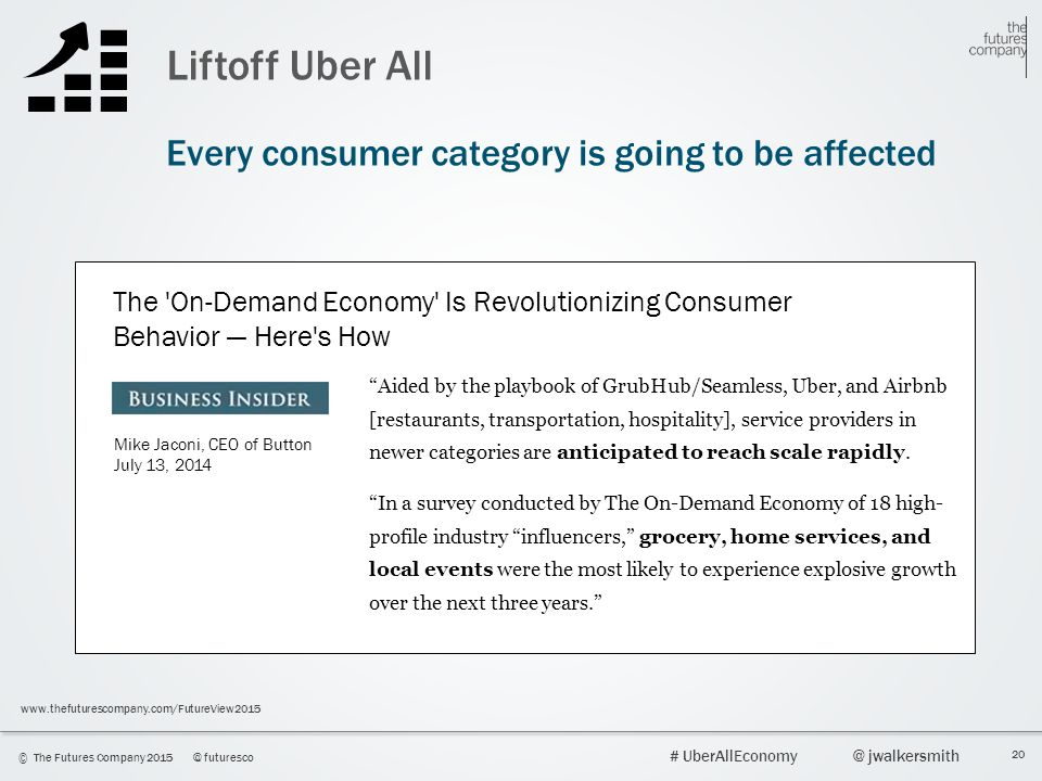 Liftoff Uber All Every consumer category is going to be affected