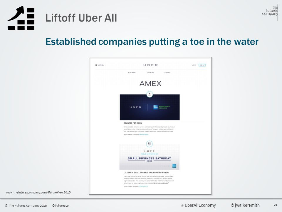 Liftoff Uber All Established companies putting a toe in the water