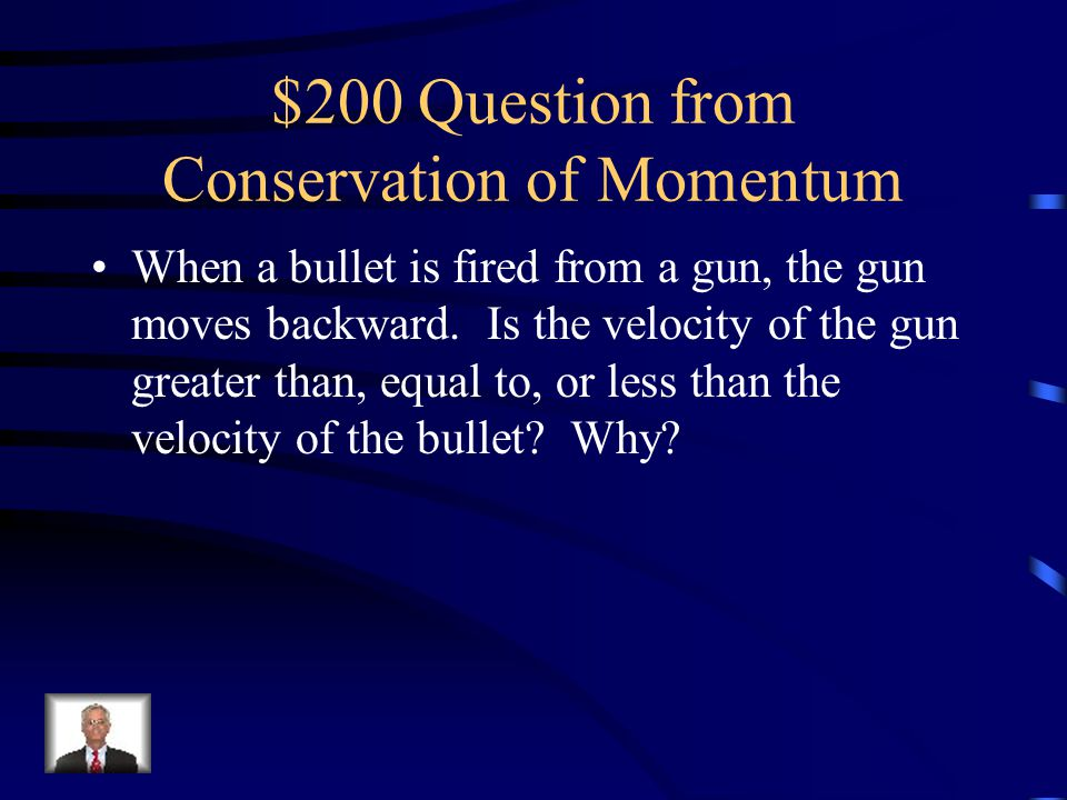 $200 Question from Conservation of Momentum
