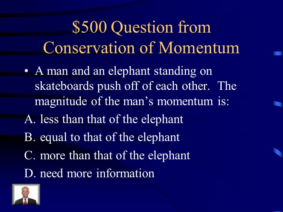 $500 Question from Conservation of Momentum