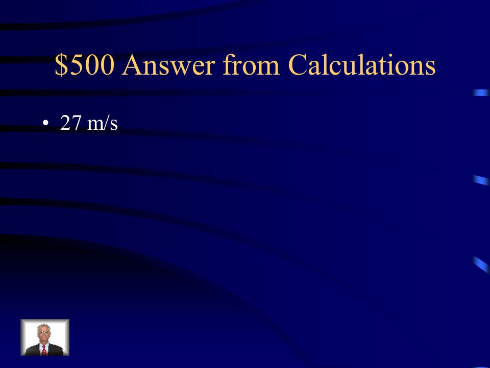 $500 Answer from Calculations
