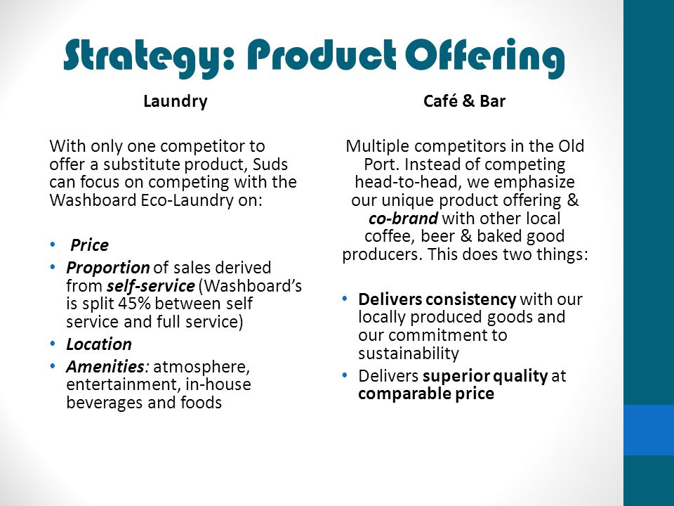Strategy: Product Offering