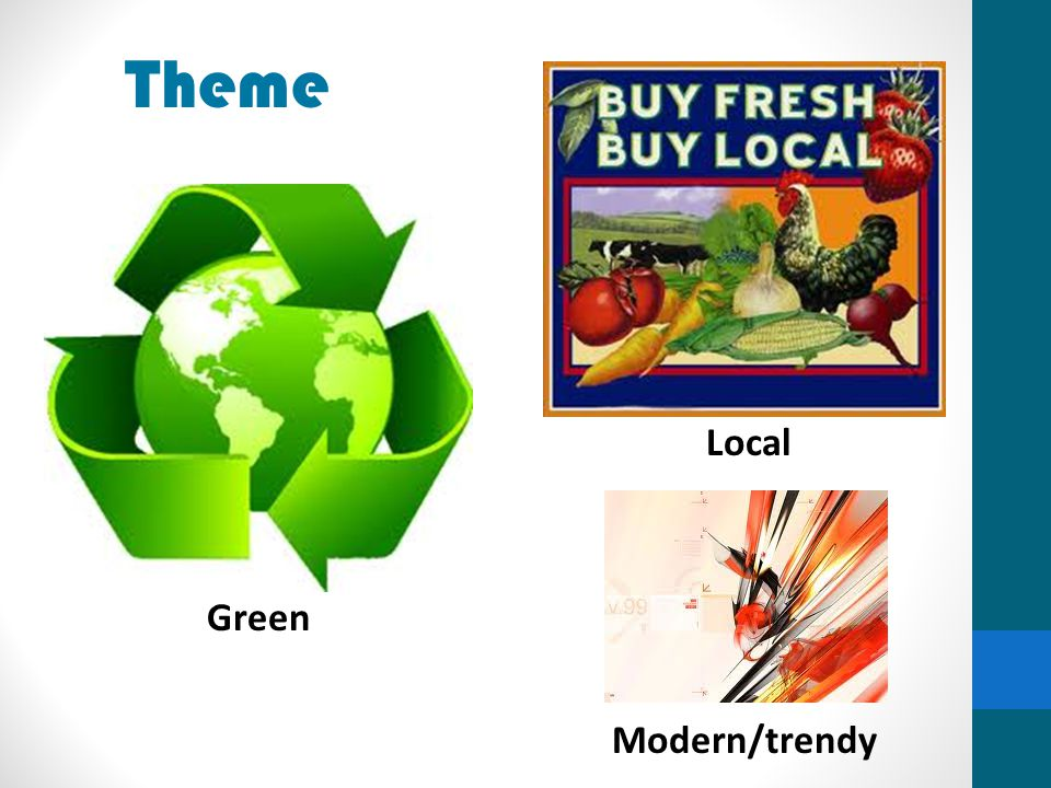 Theme Local Green Modern/trendy