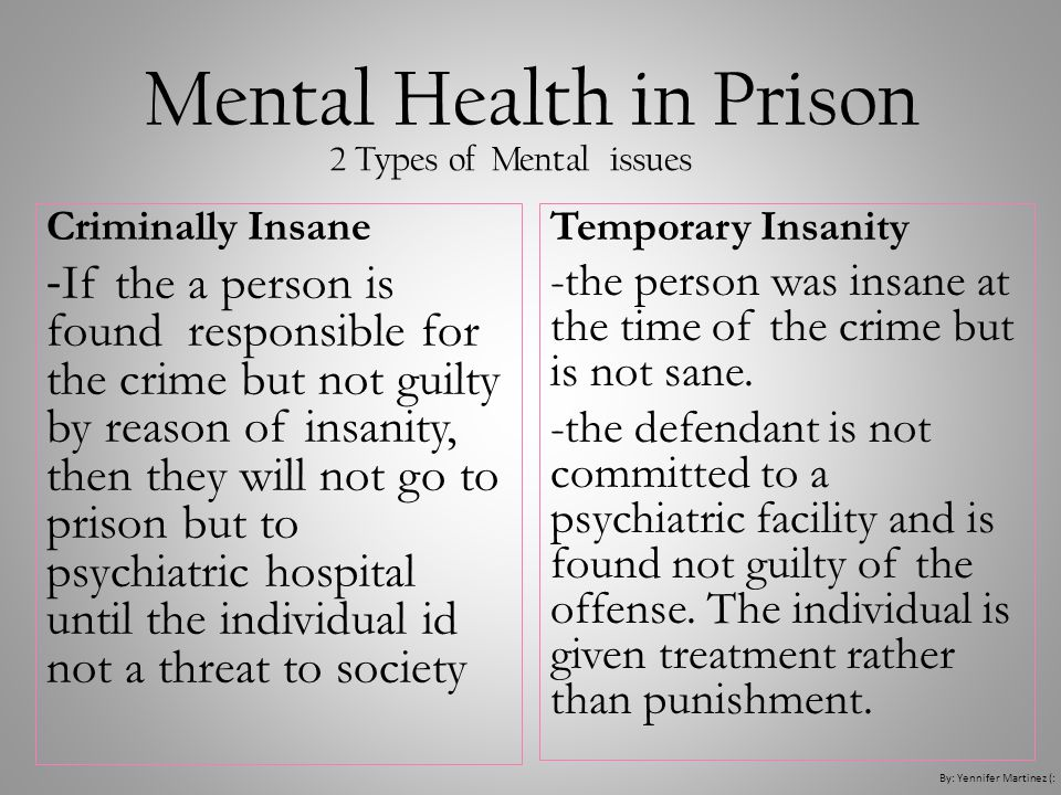 Mental Health in Prison