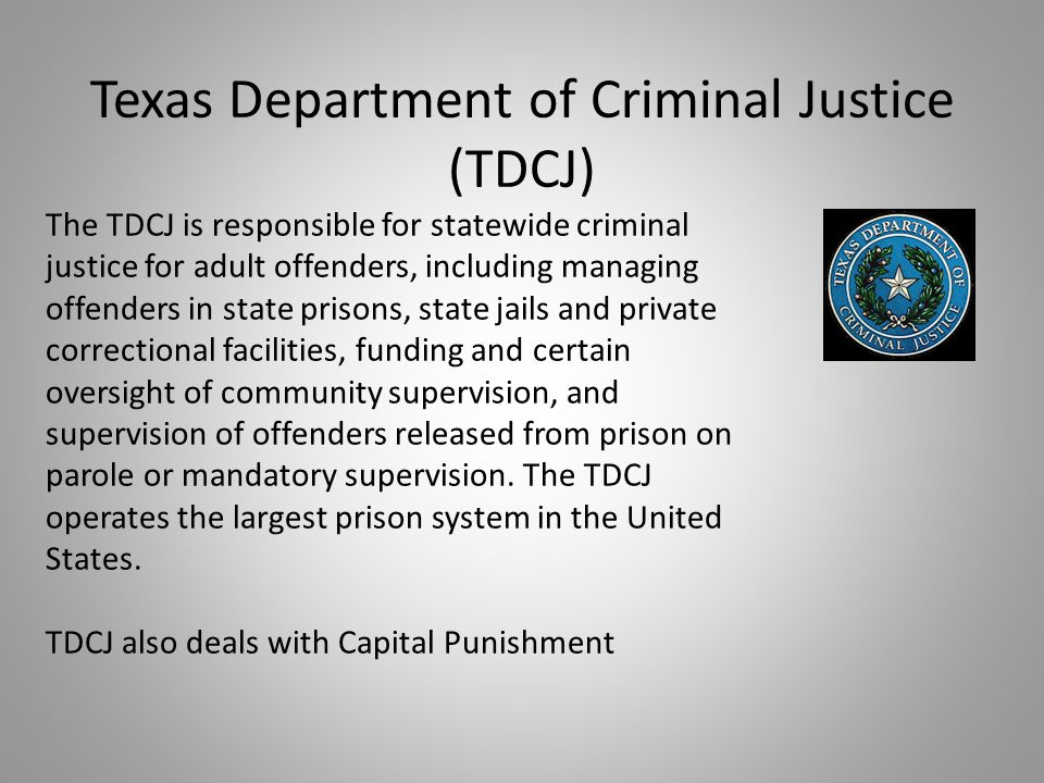 Texas Department of Criminal Justice (TDCJ)