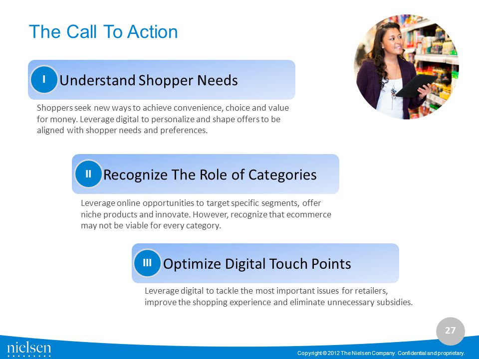 The Call To Action Understand Shopper Needs