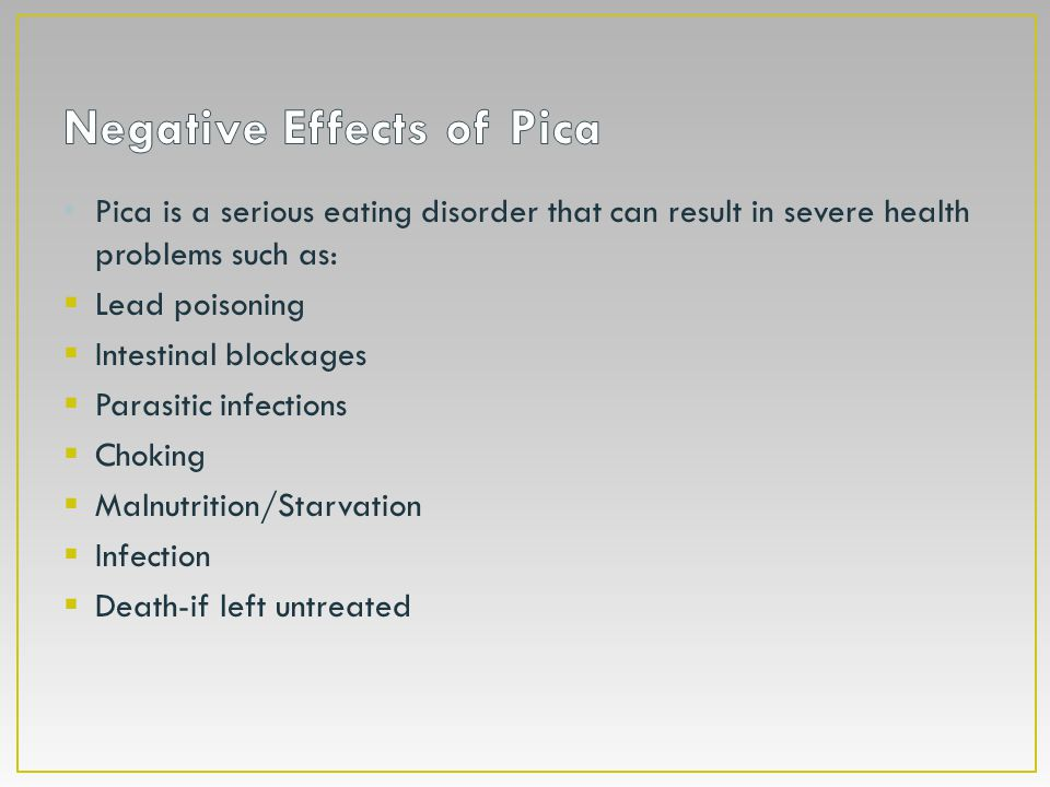 Negative Effects of Pica