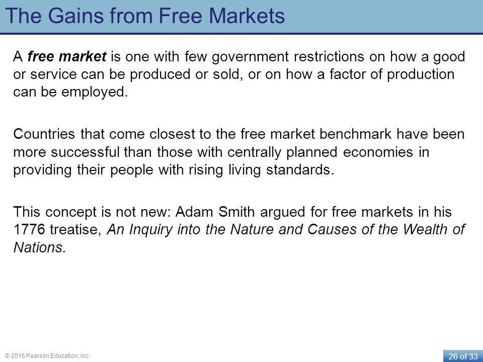 The Gains from Free Markets