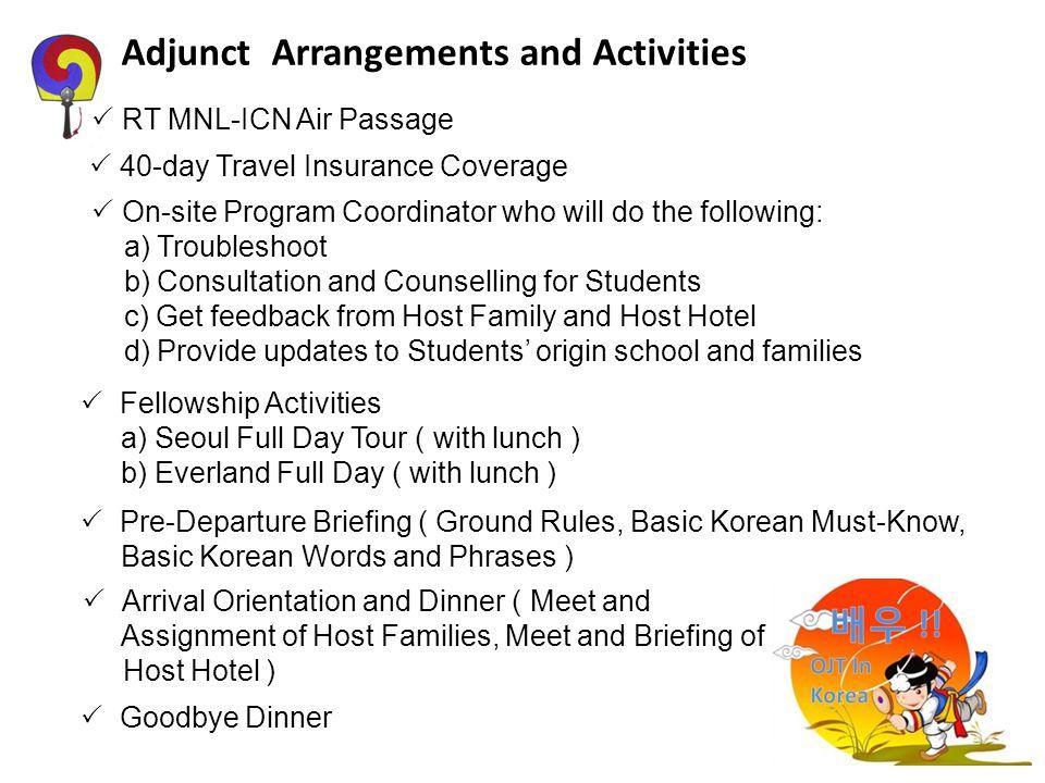 Adjunct Arrangements and Activities