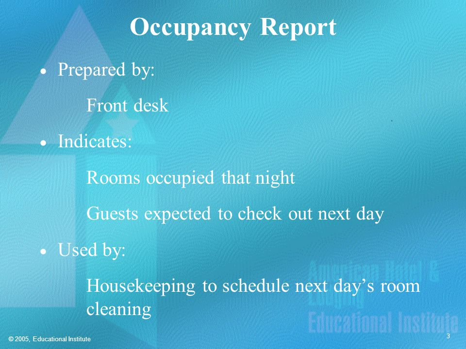 Housekeeping Status Report